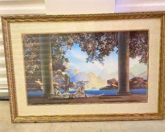 """Professionally framed and matted """"Maxfield Parrish"""" - Day Break  (1922) print."""