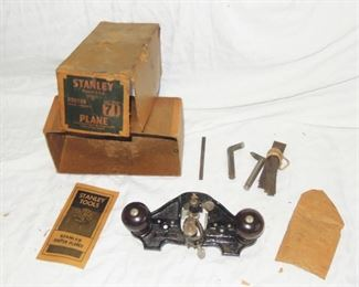 $375 obo -Stanley wartime era type 12 router plane in box [box is rough] japaned black with rosewood knobs... with three cutters and paperwork.