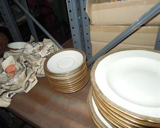 BO - Vintage Waldorf Astoria Hotel gold encrusted china, dozens of pieces, see other two photos