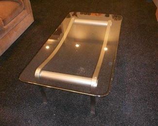 Beautiful Glass Metal Coffee Table