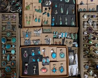 New sterling silver Native American jewelry in vintage to contemporary styles, all 50% off original prices!