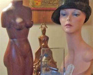 Metal Framed Art, Mannequin Bust, Asian Art, Night Stand