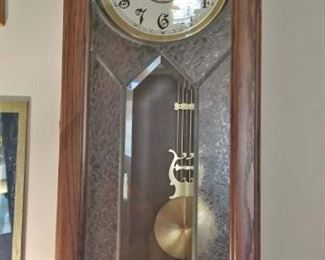 Ansonia Wall Clock with Beveled Class