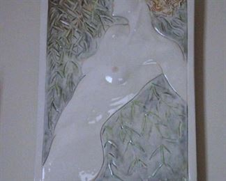 Porcelain Tile Sculpture of Nude