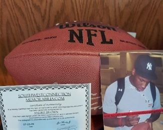 Signed , authenticated NFL football