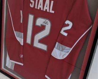 Signed Staal jersey