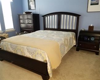 #6 $550.00 - Vaughn Bassett modern queen size 7pc bedroom set