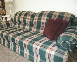 lovely plaid sofa perfect condition