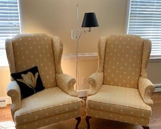 Pair of Wingback Chairs