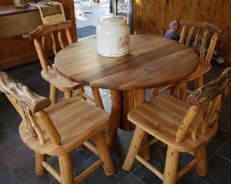 Log furniture...oh, yeah!