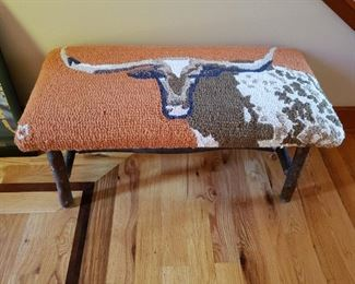 Let's fight over this Long Horn Steer Bench....oh, I wish I could buy it! But it's against the rules!