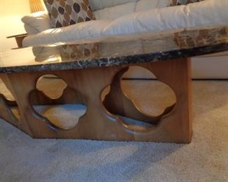 base of MCM coffee table