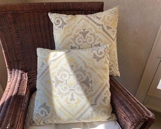 """Was $45.00 each Now $22.50 each   Pillows                               4 available      19"""" x 18"""""""