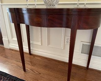 """Another view of the BAKER entryway table - converts to game table (30"""" x 38"""" x 18"""") $325,"""