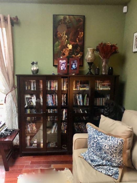 Home decor & furniture, DVDs & storage cabinet