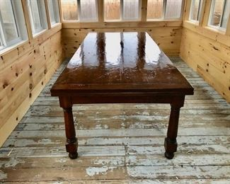 MacKenzie Dow Farmhouse Table 8' to 12' with extenders