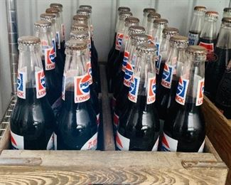 Pepsi Bottles and Crates