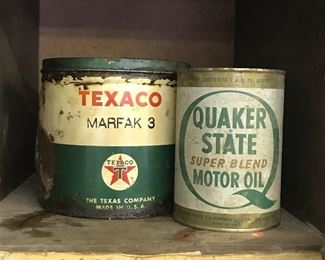 Oil Cans. Advertising