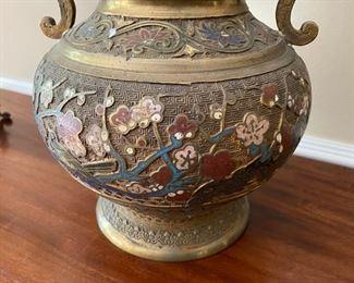 Japanese champleve vase