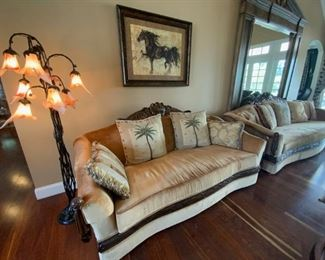 Couches and floor lamp available for presale. Please call Mimi @ 562-254-2597 for details