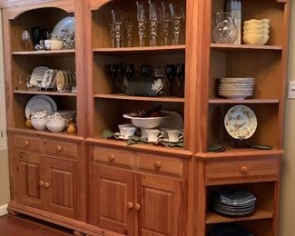 Broyhill Bookcase/China Display (3 of 4 pieces shown)