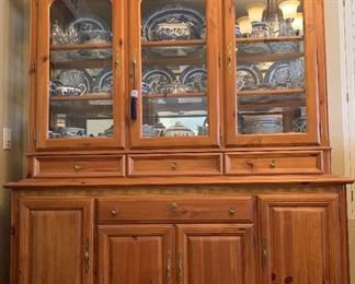 Singer Furniture made exclusively for Sears Knotty Pine Lighted Hutch