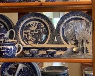 Tons of Blue and White China...Blue Willow, Occupied Japan and more...