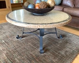 """Arhaus round coffee table. Measures 35"""" round and 17"""" h.  Presale $125 after sept. 9"""