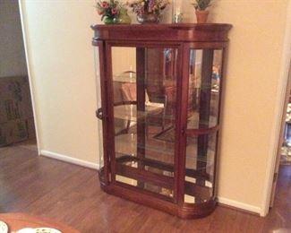 very nice cherry wood china cabinet