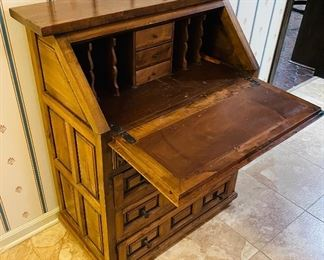 #4 - $450 - Spanish style drop front desk   • 42 high 32 wide 19 deep