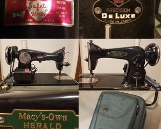 Antique Macy's-Own Herald Precision De Luxe Sewing Machine Made In Japan