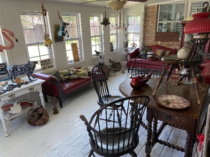 Amazing variety of eclectic treasures-antique and vintage furniture