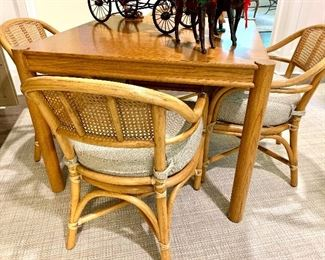 McGuire table & 4 chairs