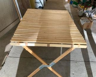 #7Folding Portable Table   44x30x28 $30.00