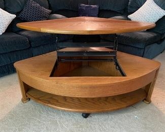 Hammary Fremont Lift Top Wedge Cocktail Table - Discontinued