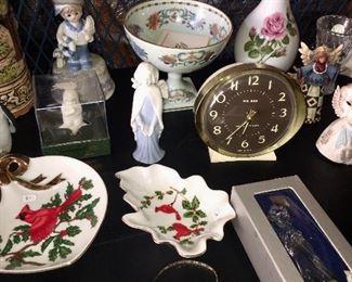 Big Ben Vintage Alarm Clock, Lefton, Mikasa, Snow Babies