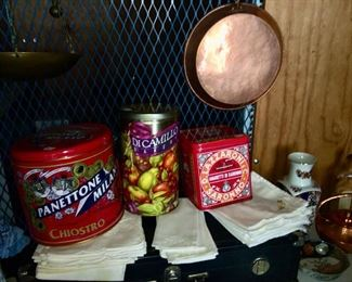 Metal Collectible Tins, Copperware Copper Pots