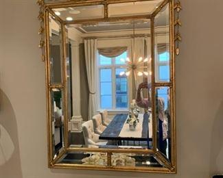 """huge Regency style gold mirror, was $10K new, 5' tall x 3'4"""" wide"""