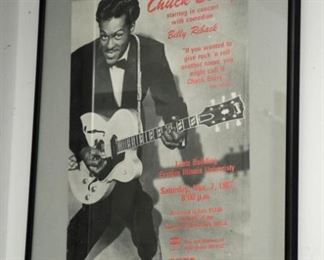 CHUCK BERRY AT EASTERN ILLINOISE UNIVERSITY POSTER