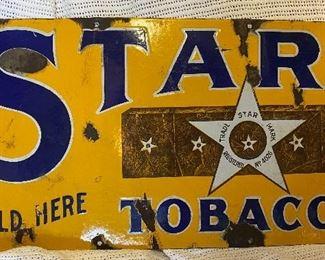 Porcelain tobacco sign