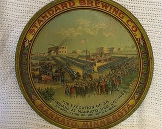 Standard Brewing hanging of the Indians tray