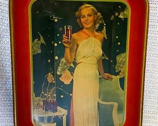 30's Coke tray