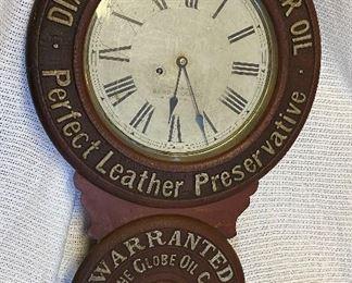 Diamond Black Advertising Clock