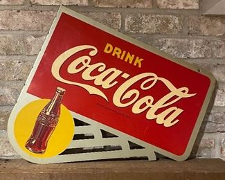Flanged two sided antique Coca Cola Sign