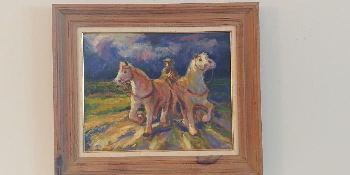 Many original paintings