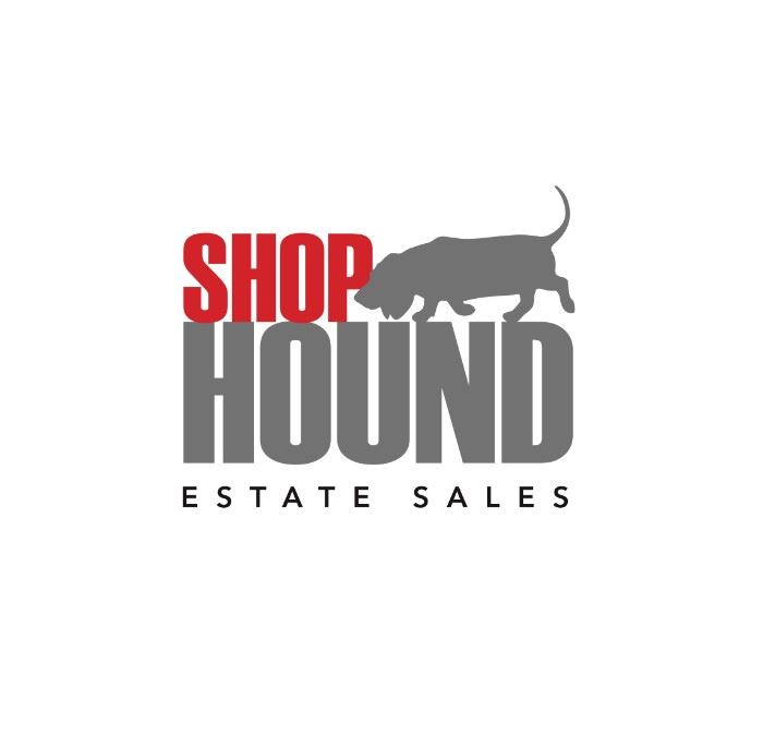 Hound gray logo with text small