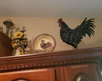 lots of rooster items