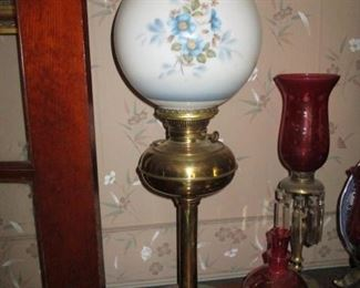 Ornate Antique Table Lamps