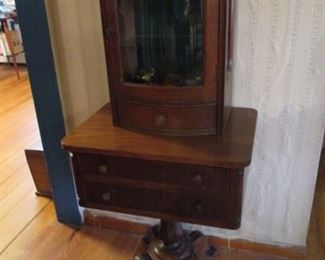 Antique Table Top Curio Cabinet