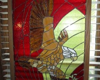 Lead Glass Eagle in Frame